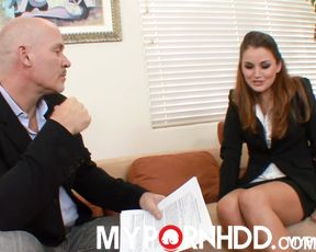 Splendid Allie Haze fucks her employer