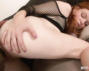 Redhead BARBARA fucked big black cock