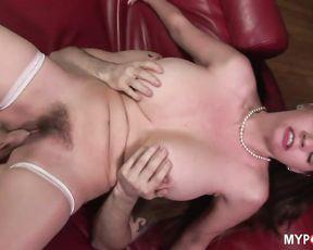 Busty nurse sucking her patient's cock with pleasure