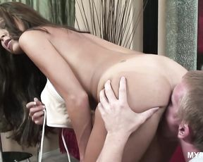 Hunter Bryce squirts during hard sex