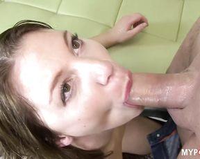 Beautiful Aurora rides on Big cock