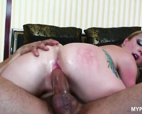 Blonde Adrianna Nicole likes hard anal sex