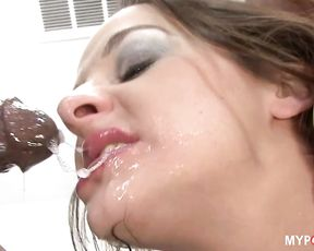When toy is not enough, black dick will help))))