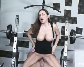Hot sex with beautiful brunette Sky Taylor in the gym