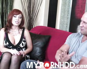 Hot redhead Brittany O'connell loves hard dick deep in her pink pussy
