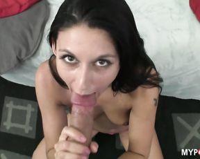Sexy blowjob from Brunette Nikki