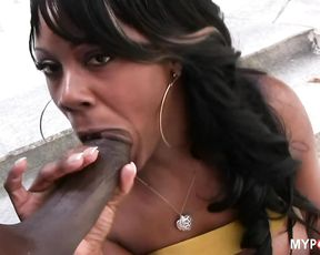 Hot ebony hard fuck