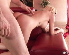 Blonde Morgan gets a deep hard fucking