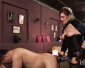Domina Jemma's Giant Black Strap-On