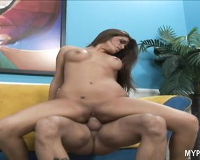 Scorching brunette Madelyn Marie loves to fuck hard and rough