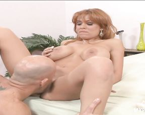 Cum craving slut Sienna West squeezes the cock hard for the cumshot