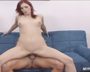 Redhead MILF Marsha Lord gets facial after hot sex