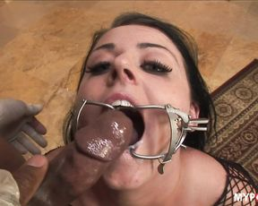 This slut loves to suck on huge black dick