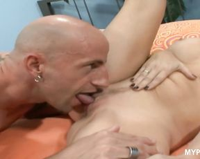 Busty wife Angela Attison loves to be fucked in the presence of her husband