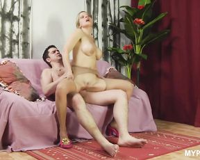Busty MILF Marina Myatlev loves to suck dick and ride on it