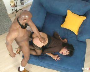 Asian Yuki Mori loves big black cock