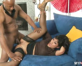 Asian Yuki Mori loves big black cock