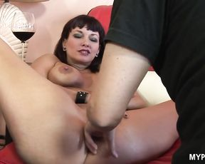 Tattooed MILF Carrie Ann loves when her mouth is filled with cum