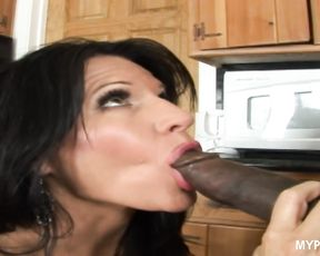 Sexy brunette MILF Kendra Secrets was seduced by the plumber's big black cock