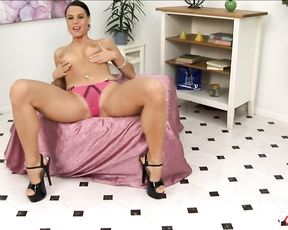 Delightful brunette Alex masturbates with vibrator