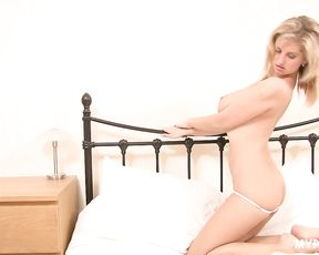 Beautiful Jenny McClain in the bed