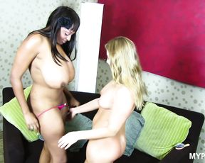 Aurora Snow and Carmen Hayes passionate lesbian sex - these depraved babes love sex toys in their wet pussies