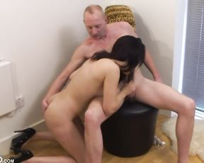 Brunette Jasmine Lau jumps on tough big cock