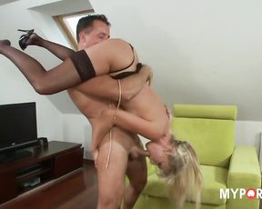 White chick Natalli opens her mouth for some cock