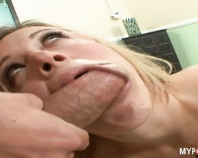 Blonde Jasmine Jolie loves to fuck with handsome guy
