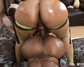 Huge Ass babe Pinky fucked Ayana with Strap-on