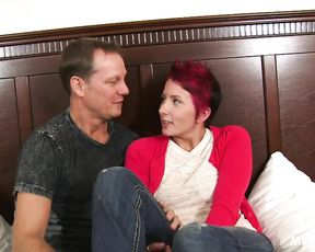 Crazy MILF Missy Lee loves to suck dick and ride on it