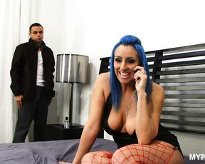 Really hot MILF Raven Black bounces on hard cock