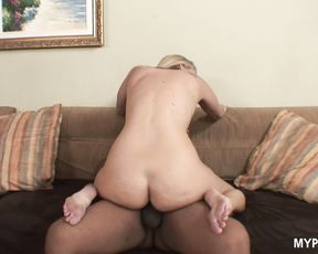 Blonde MILF Jordan enjoys some big black dick