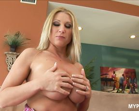 Busty blonde Devon Lee loves big cock deep in her wet pussy